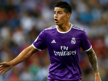 File photo of James Rodriguez. Reuters