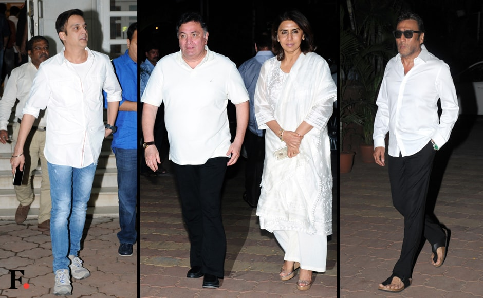 Jimmy Shergill, Rishi Kapoor with wife Neetu Kapoor and Jackie Shroff are among the other guests. Sachin Gokhale/Firstpost