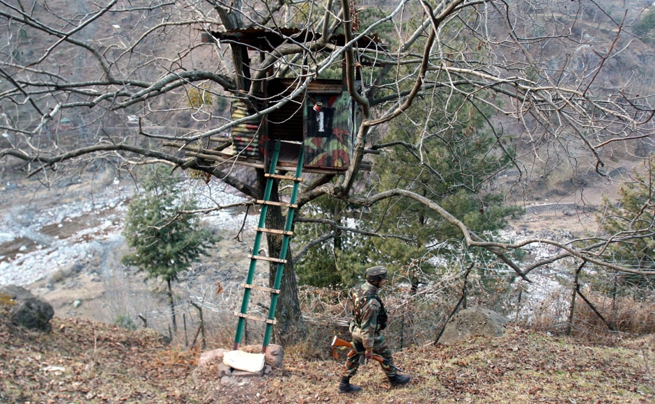 There have been five ceasefire violations in over 24 hours along the Line of Control on Tuesday. Firstpost