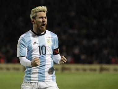 File photo of Lionel Messi. AP
