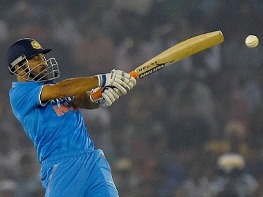 India captain MS Dhoni scored a brilliant 80 batting at No 4. PTI