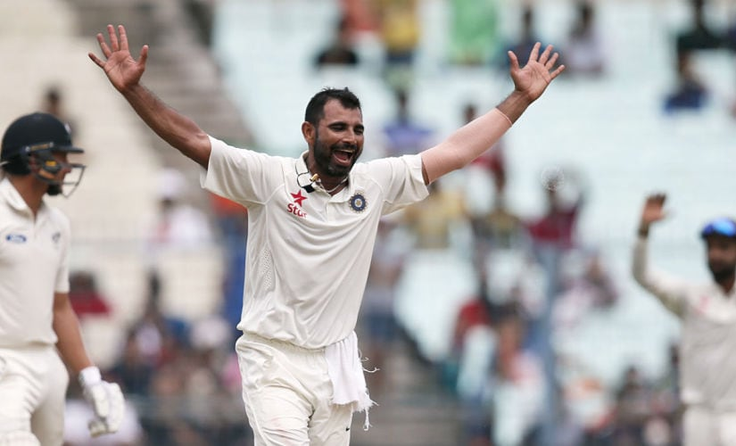 Mohammad Shami fared well given the unresponsive pitches. AP