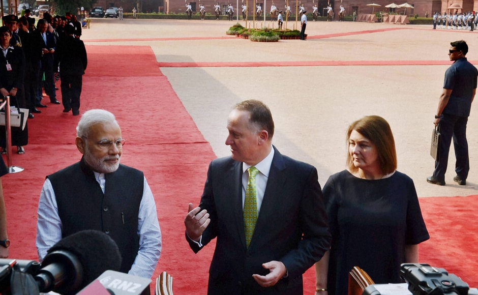 Before raising the issue of terrorism, Modi and Key discussed investment and trade ties between the two countries. They recognised the need for greater economic engagement in order to effectively respond to the growing uncertainties in the global economy. (Photo: PTI)