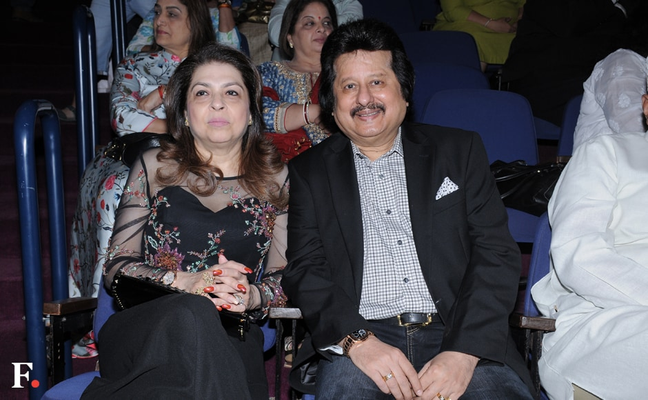Pankaj Udhas with wife Farida. Sachin Gokhale/Firstpost
