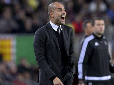 Guardiola received criticism after his side's poor performance against Barcelona. AFP