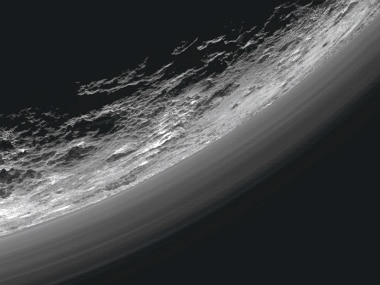 The hazy atmosphere on Pluto. Image: Reuters.