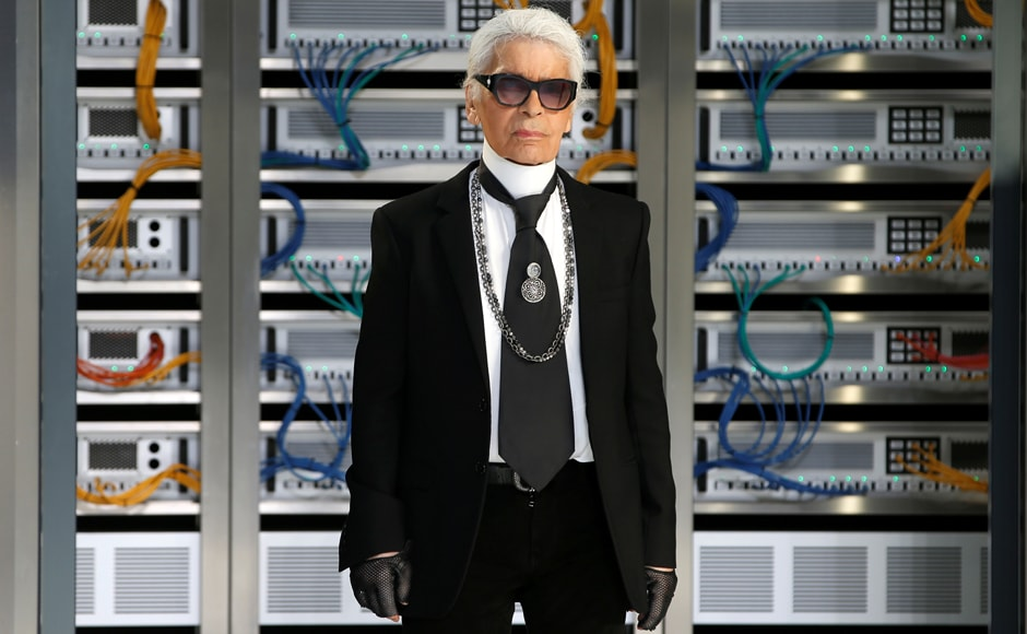 Chanel, which is privately owned, traditionally organises some of the most striking shows during Paris Fashion Week. Seen here, Karl Lagerfeld. REUTERS/Charles Platiau