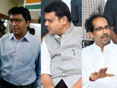Raj Thackeray, Devendra Fadnavis and Udhav Thackeray