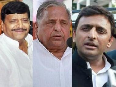 Akhilesh Yadav, Mulayam Singh Yadav face each other as others fall by wayside
