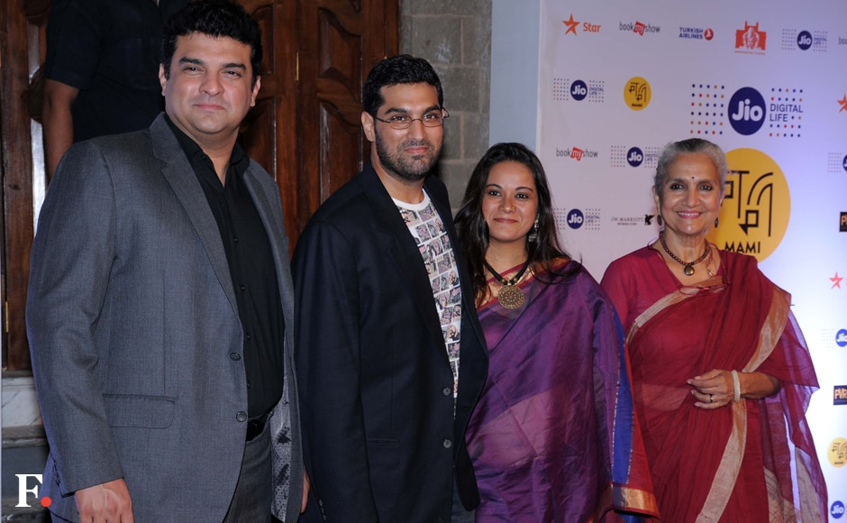 Siddharth Roy Kapoor, Kunal Roy Kapoor with wifeShayonti Roy Kapur and mother Salome Roy Kapoor. Sachin Gokhale/Firstpost