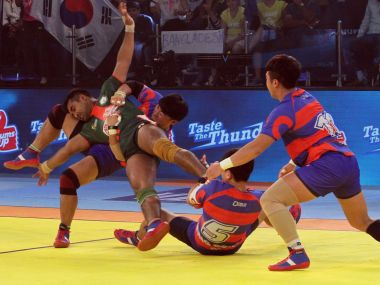 South Korea staged a stunning comeback to beat Bangladesh in Kabaddi World Cup.