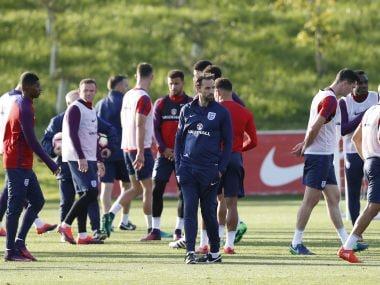 England interim manager Gareth Southgate during training. Reuters