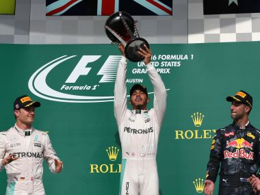 United States GP: Lewis Hamilton wins to keep Formula One title hope alive, Nico Rosberg second