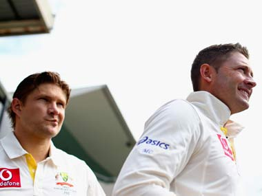File photo of Shane Watson and Michael Clarke. Getty Images