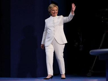 The white Ralph Lauren pantsuit Clinton wore is a rage/ Reuters