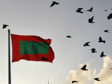 Maldives flag. Reuters