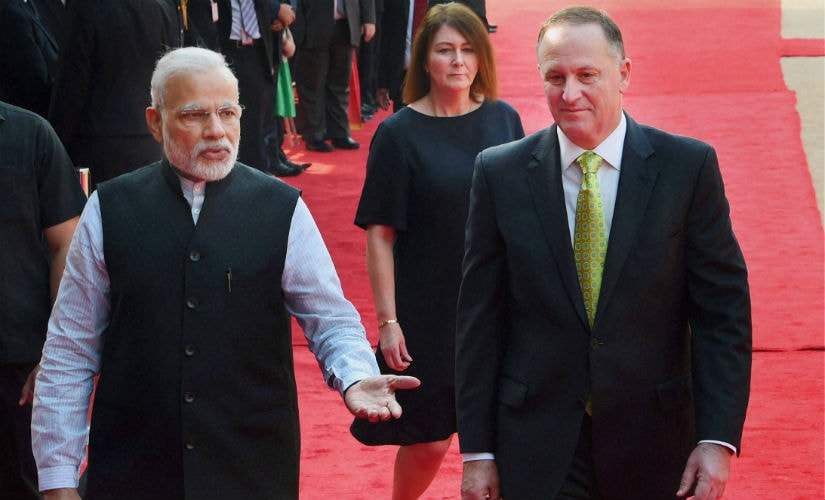 India, New Zealand agree to expand commercial ties after Narendra Modi - John Key meeting