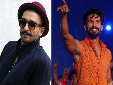 News reports claim that Shahid Kapoor was on the verge of walking out from Padmavati over issues with co-star Ranveer Singh. File photo