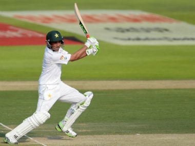 Younis Khan's steady knock helped Pakistan. AFP