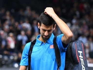 Novak Djokovic leaves the court after losing against Marin Cilic. AFP