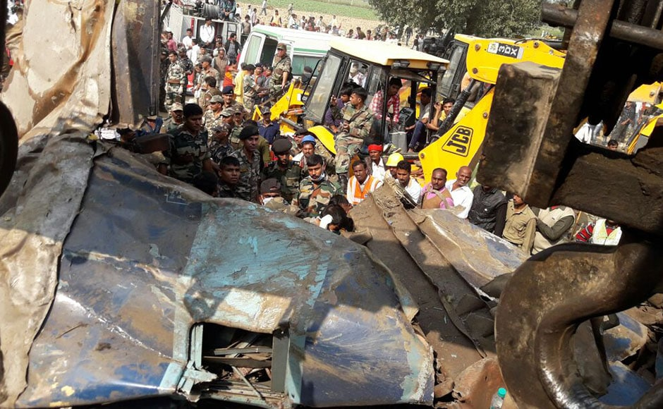 It was the worst train accident in the country after the May 2010 disaster in West Bengal involving Gyaneshwari Express that killed some 170 people. Photo: Naveen Lal Suri/ Firstpost