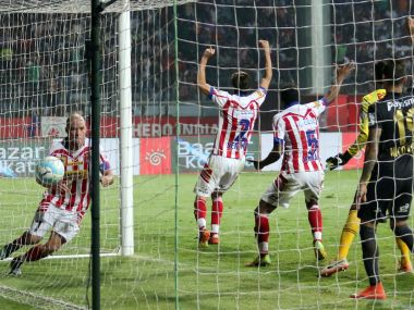 Iain Hume netted a late equaliser for Atletico de Kolkata against NorthEast United. AFP