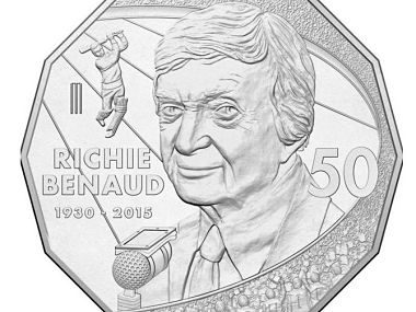 Marvellous Richie Benaud honoured with 50-cent coin in Australia