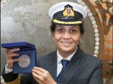 Captain Radhika Menon. Twitter@WISTAInt