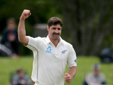 Colin de Grandhomme recorded figures of 6/41 in the first Test against Pakistan at Christchurch. Getty Images