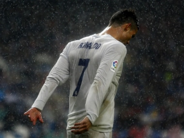 Cristiano Ronaldo scored 2 in Real Madrid's win over Sporting Gijon. AP