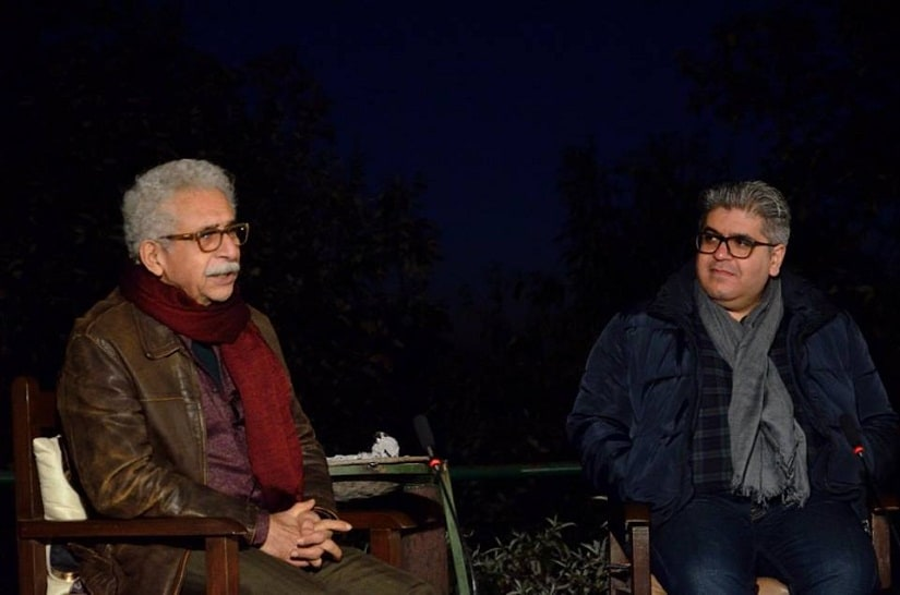 Naseeruddin Shah and Rajeev Masand in conversation at DIFF 2016