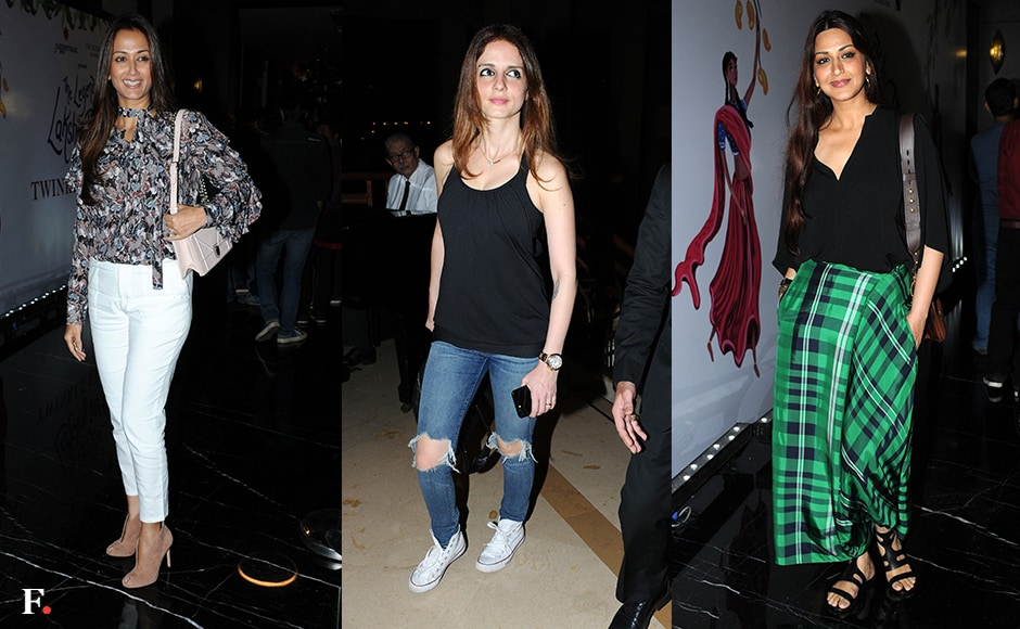 Gayatri Oberoi, Sussanne Khan and Sonali Bendre at the launch. Sachin Gokhale/Firstpost