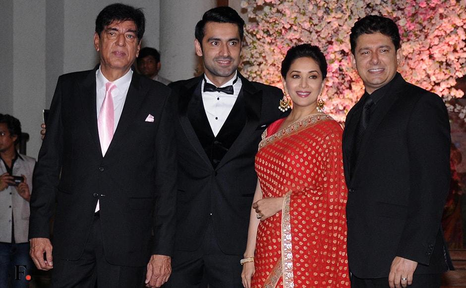 Madhuri Dixit Rekha Among Celeb Guests At Wedding Of Rakeshnath S Daughter Photos News Firstpost