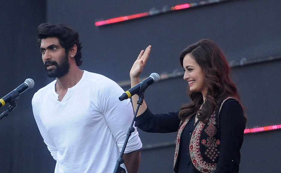 Rana Daggubati and Dia Mirza interact with the audience during the day long festival. Sachin Gokhale/Firstpost
