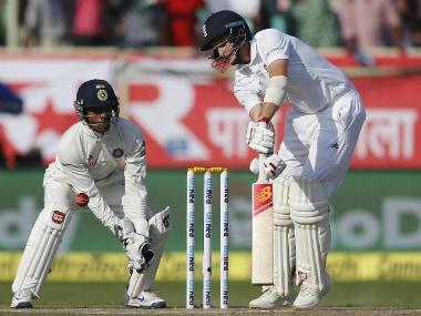 England's Joe Root plays a shot. AP