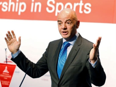 File image of Fifa president Gianni Infantino. Reuters
