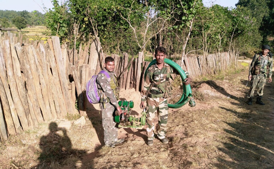 The Commando Battalion for Resolute Action (CoBRA) is an elite jungle warfare unit of the Central Reserve Police Force deployed extensively for anti-Naxal operations in Jharkhand and other states. Photo: Chetna, Pradesh 18 Ranchi
