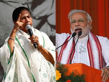 File image of West Bengal chief minister Mamata Banerjee and Prime Minister Narendra Modi. Reuters