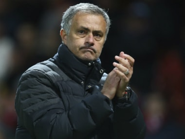 Jose Mourinho after Manchester United's win against Feyenoord. AP