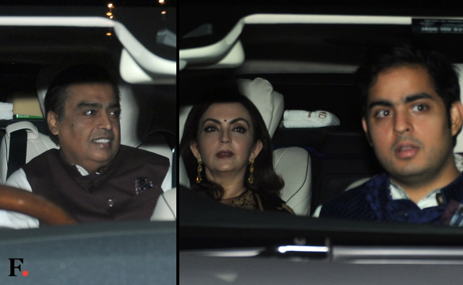 Mukesh and Neeta Ambani were among the guests at the Bachchans' Diwali do. Image by Sachin Gokhale/Firstpost