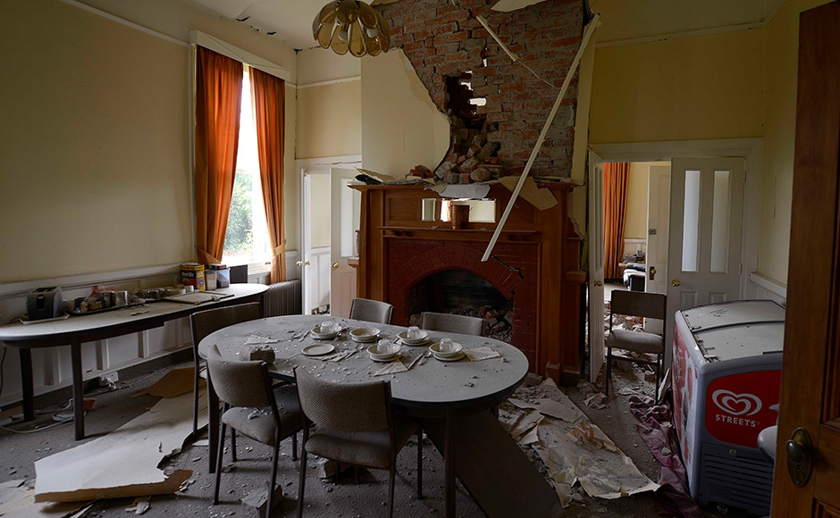 The Waiau Lodge Hotel, in Waiau, 120 kms north of Christchurch, shows damage in the aftermath of a 7.5 magnitude earthquake on November 14, 2016 in Waiau, New Zealand. The 7.5 magnitude earthquake struck 20km south-east of Hanmer Springs at 12.02am and triggered tsunami warnings for many coastal areas. Getty Images