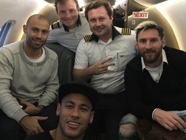 World Cup qualifiers: Neymar gives Lionel Messi lift on his private jet ahead of Brazil-Argentina clash