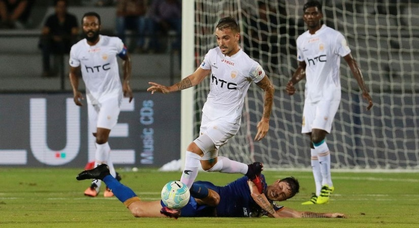 Emiliano Alfaro of NorthEast United FC in action during ISL 2016. ISL