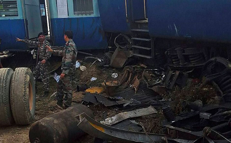 Officials said soldiers and National Disaster Response Force (NDRF) teams were frantically cutting through the mangled coaches to pull out bodies and the injured. PTI