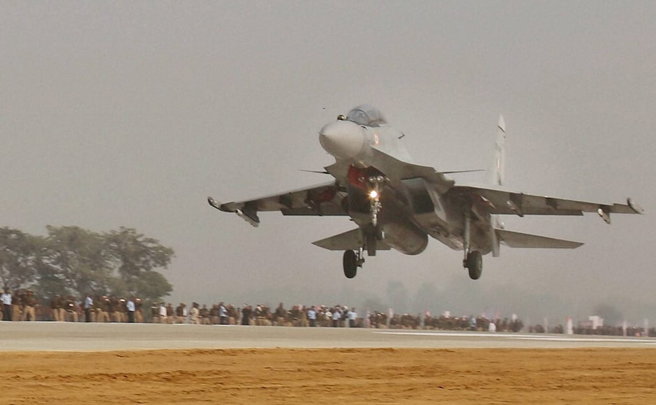 In a first for any road launch, six fighter jets of the IAF on Monday made a touchdown on the Agra-Lucknow Expressway, India's longest. Fighter plane Sukhoi barely skimmed the road and took off to to mark the opening of the ambitious project. The Expressway was inaugrated by Samajwadi Party Supremo Mulayam Singh on the occassion of his birthday. PTI