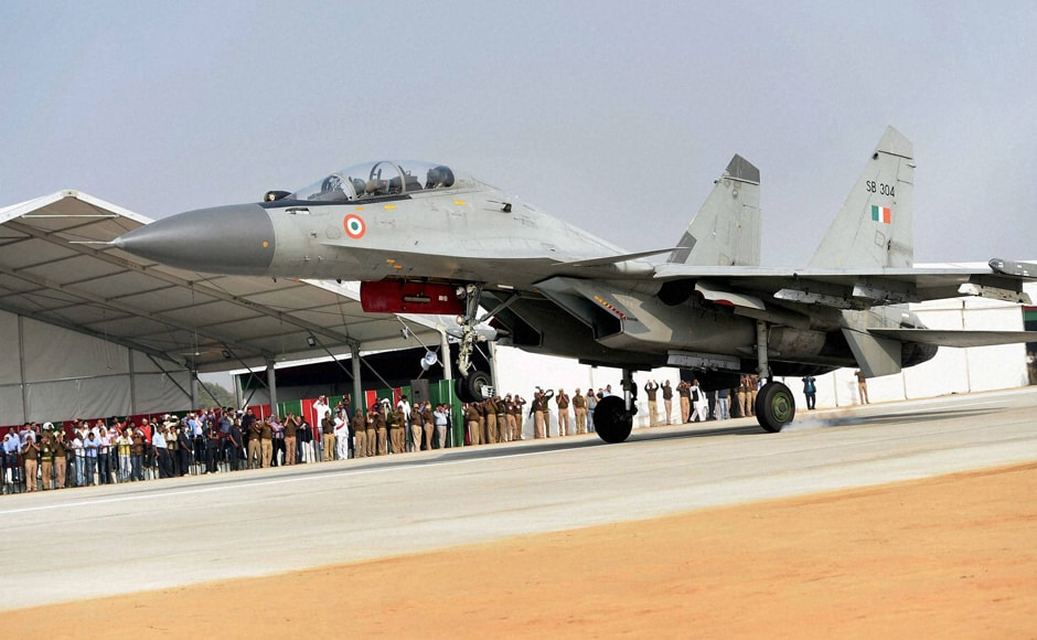 Three Mirage 2000 and three Sukhoi-30 jets of the Indian Air Force carried out the 'touch and go' on a portion of the newly constructed Expressway which has an RCC construction and reinforced and appropriately marked to facilitate aircraft landings. The portion used for the operations is located at Ganj Moradabad in Unnao District in UP. PTI