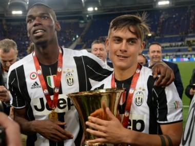 Paul Pogba won several titles at Juventus. AFP