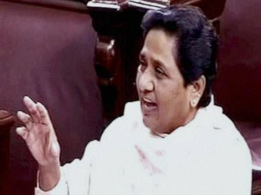 BSP chief and former UP Chief Minister Mayawati in Rajya Sabha on Wednesday. PTI