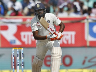 Ravichandran Ashwin was batting on 47 at the end of the first session. AP