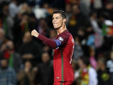 Cristiano Ronaldo's brace secured Portugal's 4-1 win over Latvia. AFP